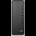HP Slim Desktop S01-aF0017na DDR4-SDRAM 3150U Mini Tower AMD Athlon Gold 4 GB 1000 GB HDD Windows 10 Home PC Black