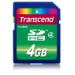 Transcend TS4GSDHC4 4GB SDHC memory card