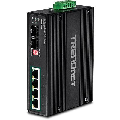 Trendnet TI-PG62B switch No administrado L2 Gigabit Ethernet (10/100/1000) Negro Energía sobre Ethernet (PoE)