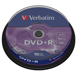 Verbatim DVD+R Matt Silver 4.7 GB 10 pc(s) 43498