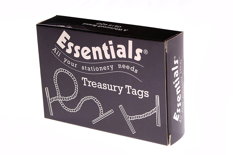 Whitecroft Essentials Value Treasury Tag Plastic 152mm Box 100