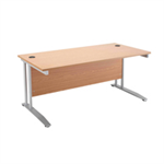 Arista White 1800mm Rectangular Desk KF838678