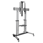 "Tripp Lite DMCS60100XX flat panel floorstand 100"" Portable flat panel floor stand Black,Silver"