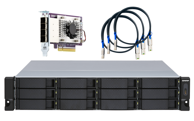 "QNAP TL-R1200S-RP behuizing voor opslagstations 2.5/3.5"" HDD-/SSD-behuizing Zwart, Grijs"