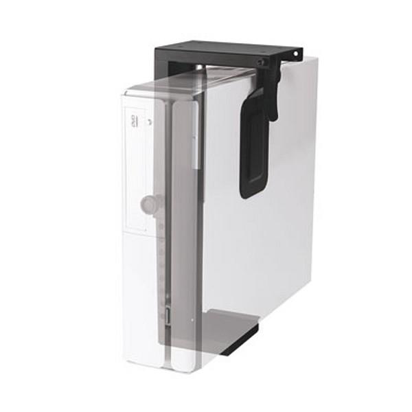 Newstar Under Desk PC Mount (Suitable PC Dimensions - Height: 20-36 cm / Width: 5-10 cm) - Black