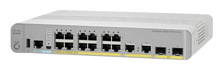 Cisco Catalyst WS-C3560CX-12TC-S switch Gestionado L3 Gigabit Ethernet (10/100/1000) Gris, Blanco