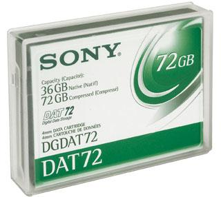 Sony DATA CARTRIDGE DAT72 36 72GB 3.8 mm