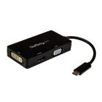 StarTech.com USB-C Multiport Video Adapter - 3-in-1 - 4K 30Hz - Black