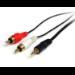 StarTech.com Cable de 1,8m de Audio Estéreo - 3,5mm a 2x RCA