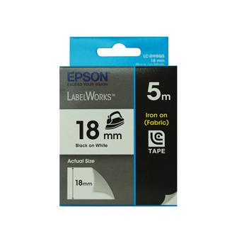 Epson C53S626103 Black on white label-making tape