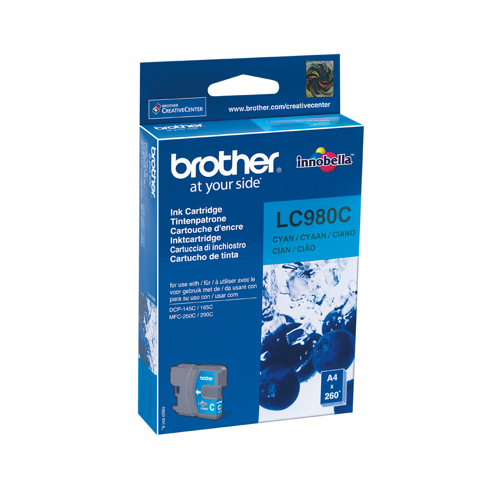 Brother LC-980C cartucho de tinta Original Cian 1 pieza(s)