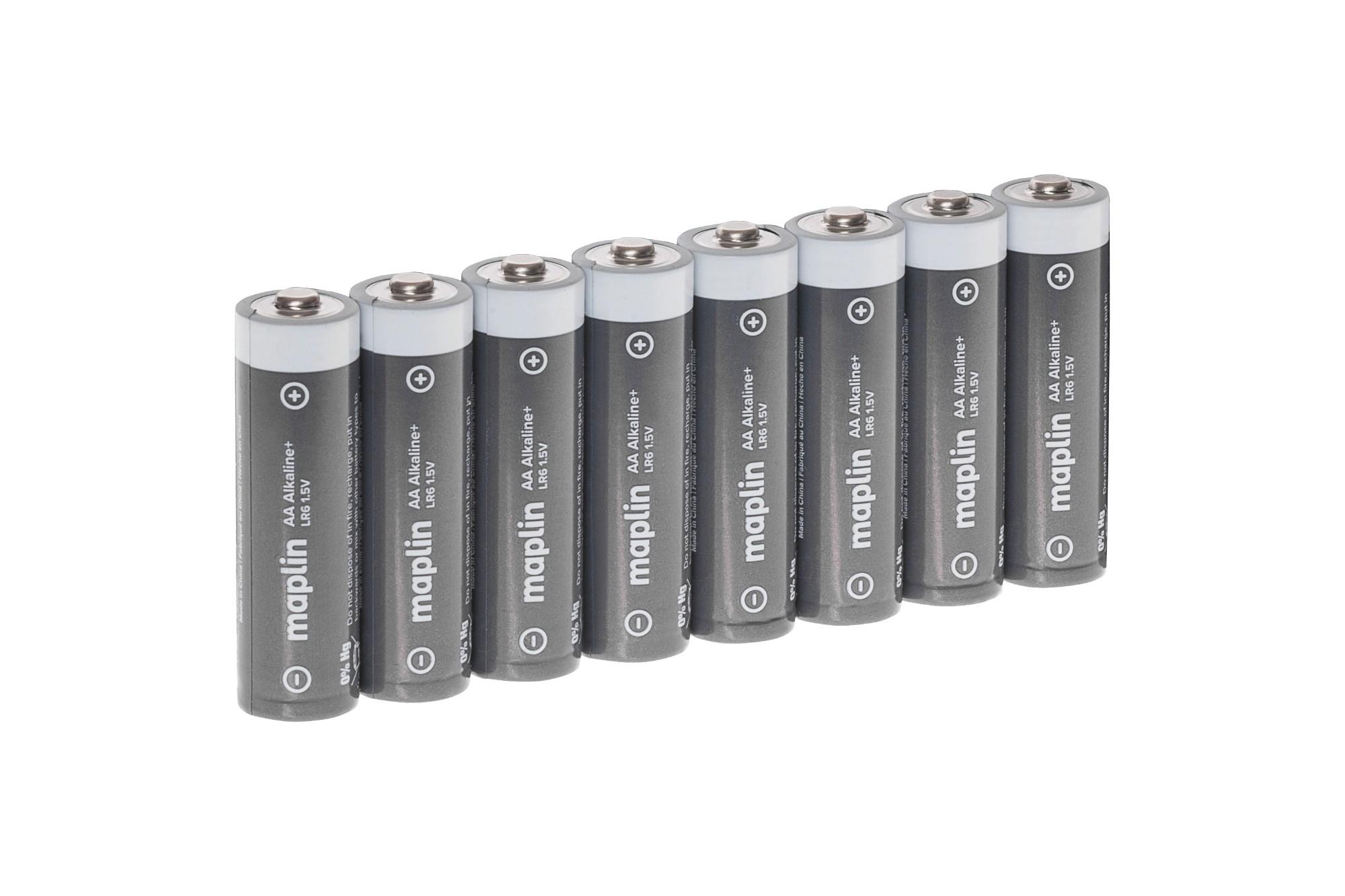 MAPLIN Extra Long Life High-Performance Alkaline AA Batteries - Pack of 8