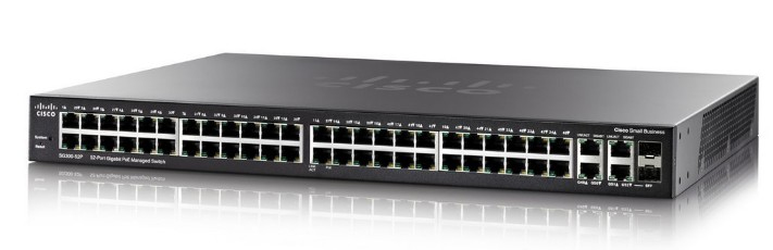 Cisco SG350-52P Gestionado L3 Gigabit Ethernet (10/100/1000) Negro 1U Energía sobre Ethernet (PoE)