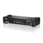 ATEN 4 PORT USB DVI DUAL LINK KVMP SWITCH. Support HDCP, Video DynaSync, Dual Link, 2.1 Audio, Mouse/Keyb
