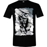 Star Wars VII Men's The Force Awakens Distressed StormTrooper T-Shirt, Small, Black (CD104STW-S)