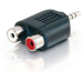 ALOGIC 3.5mm Stereo Audio to 2 X RCA Stereo ADAPTER - (1) Male to (2) Female
