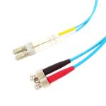 Videk OM3 LC - ST fiber optic cable 0.5 m Turquoise
