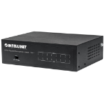 Intellinet 8-Port Gigabit Ethernet PoE+ Switch, IEEE 802.3at/af Power over Ethernet (PoE+/PoE) Compliant, 60 W, Desktop (UK 3-pin plug)