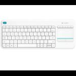 Logitech K400 Plus toetsenbord RF Draadloos QWERTZ Duits Wit