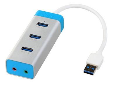 i-tec U3A3HUB 5000Mbit/s Blue,Silver interface hub