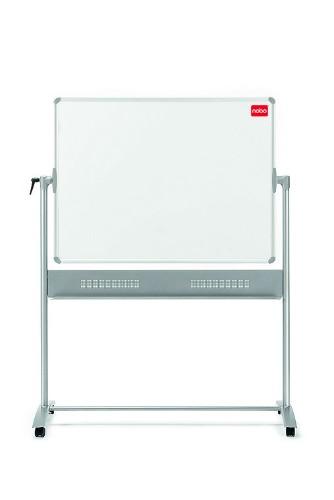 Nobo Prestige Enamel Magnetic Mobile Board Horizontal Pivot 1200x900mm