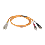 Tripp Lite Duplex Multimode 50/125 Fiber Patch Cable (LC/ST), 3M