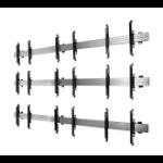 "B-Tech BT8340 65"" Black,Silver flat panel wall mount"
