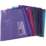 """Snopake """"Zippa-Bag S"""" Electra Colour Packs - A5 Asstd report cover"""