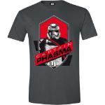 Star Wars VII Men's The Force Awakens Captain Phasma Shield T-Shirt, Extra Extra Large, Grey (CD118STW-XXL)
