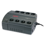 APC Back-UPS 400, FR Standby (Offline) 400VA 8AC outlet(s) Compact Charcoal uninterruptible power supply (UPS)