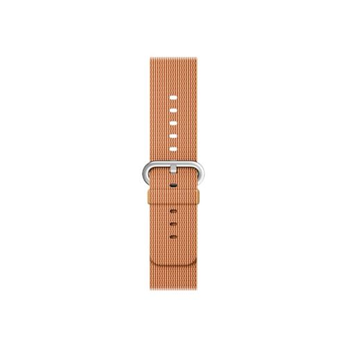 Apple 42mm Woven Nylon Band - Watch strap - gold/red - for Watch (42 mm)