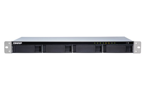 QNAP TS-431XEU Alpine AL-314 Ethernet LAN Rack (1U) Black, Stainless steel NAS