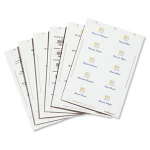 Durable 1455-02 White non-adhesive label