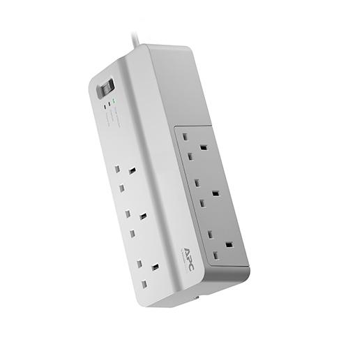 APC SurgeArrest surge protector 6 AC outlet(s) 230 V 2 m White