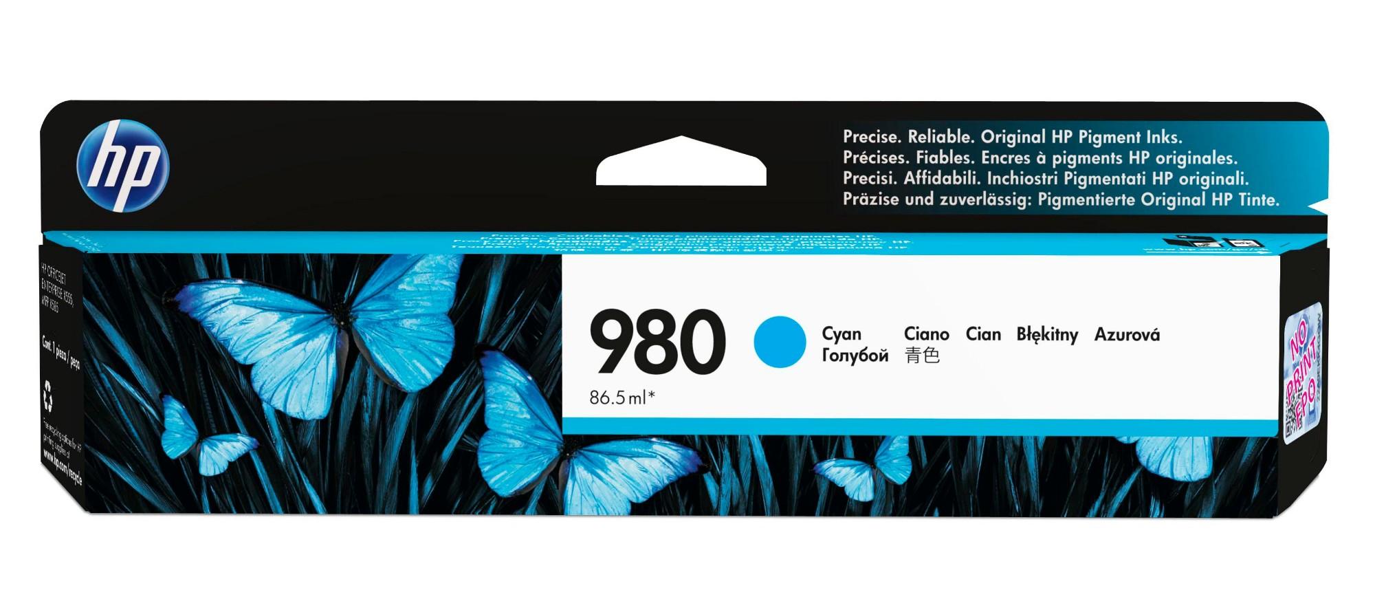 HP 980 Original Cian 1 pieza(s) Rendimiento estándar
