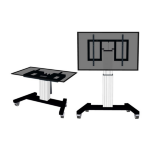 "Newstar Mobile Motorised TV/LFD Trolley for 42""-100"" screen, with tabletop tilt function, Height Adjustable - Silver"