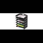 MARBIG® ORGANISER DESKTOP METAL 6 TIER BLACK