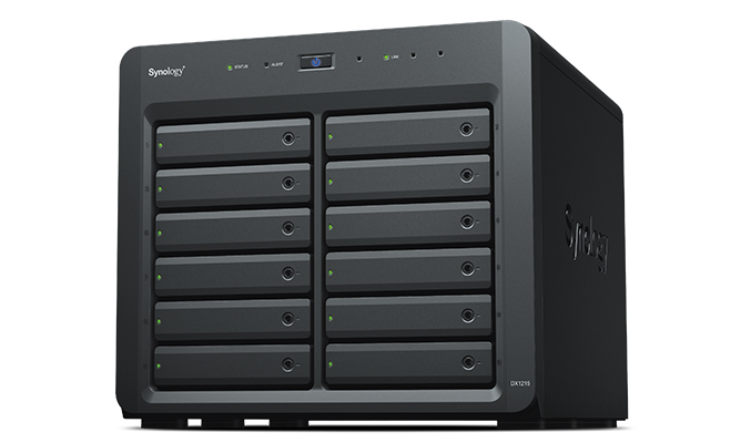 Synology DX1215 disk array 144 TB Tower Black
