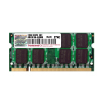 Transcend 2GB DDR2-800/PC6400 200-pin SO-DIMM 5-5-5 - 128Mx8 JetRam 2GB DDR 400MHz memory module