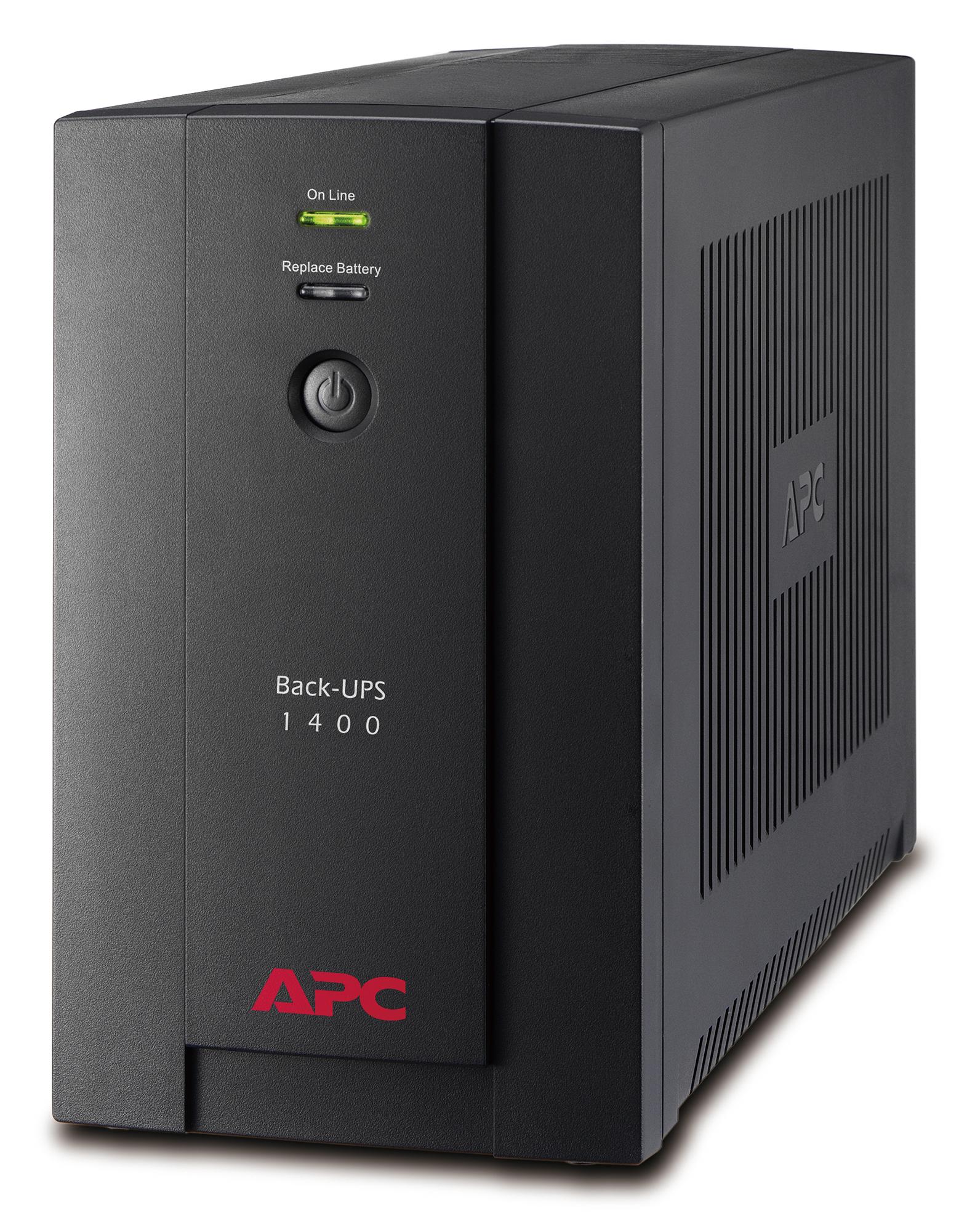 APC Back-UPS sistema de alimentación ininterrumpida (UPS) Línea interactiva 1400 VA 700 W