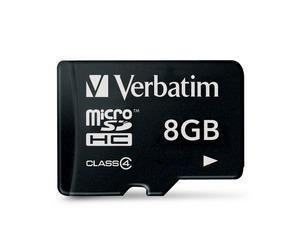 Verbatim Micro SDHC 8GB - Class 4 8GB MicroSDHC memory card