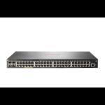 Hewlett Packard Enterprise Aruba 2930F 48G PoE+ 4SFP+ TAA Managed L3 Gigabit Ethernet (10/100/1000) Power over Ethernet (PoE) 1U Gray