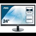 """AOC Basic-line M2470SWH LED display 59.9 cm (23.6"""") 1920 x 1080 pixels Full HD Black"""