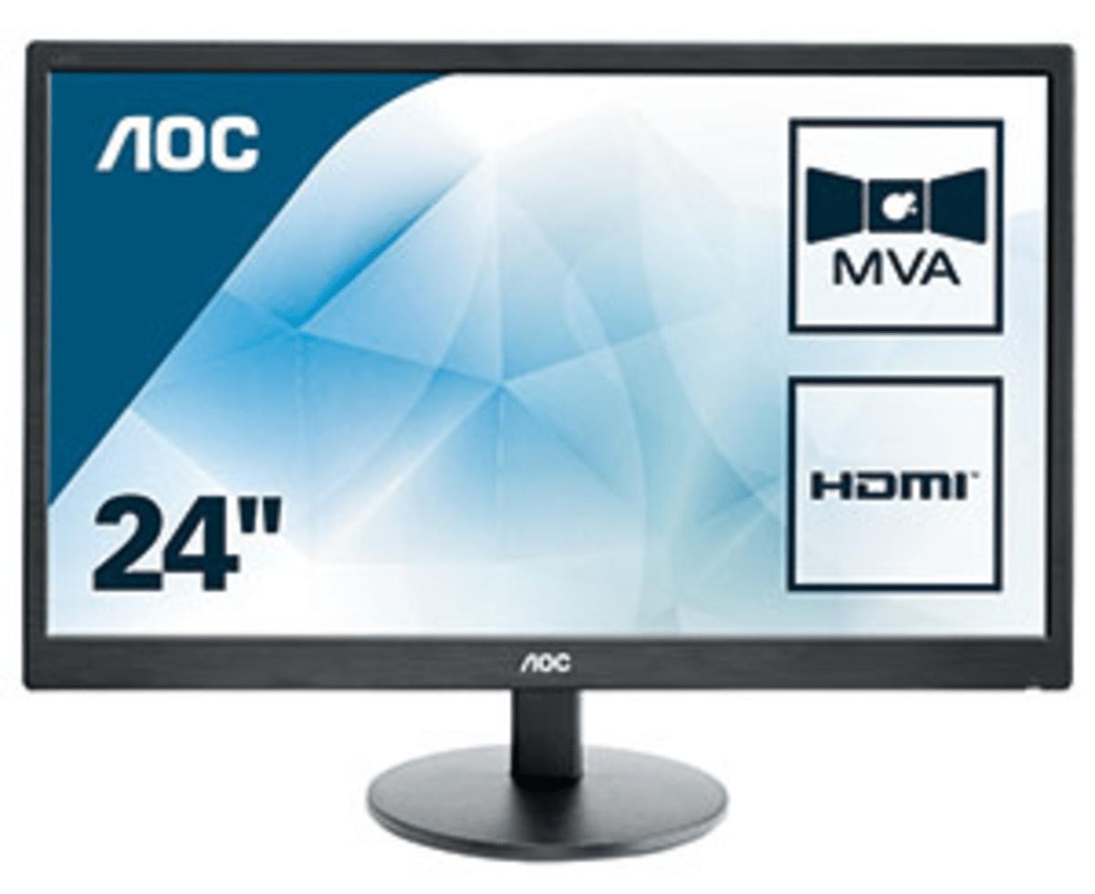 "AOC Basic-line M2470SWH LED display 59,9 cm (23.6"") 1920 x 1080 Pixeles Full HD Negro"
