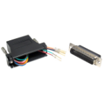 Cables Direct UT-155 cable interface/gender adapter 25 Way RJ-45 Aluminium,Black
