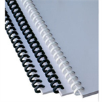 GBC ClickBind Binding Spines 16mm A4 White (50)