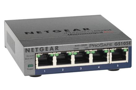 Netgear GS105PE Unmanaged L2 Gigabit Ethernet (10/100/1000) Grey Power over Ethernet (PoE)