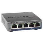 Netgear GS105PE Unmanaged network switch L2 Gigabit Ethernet (10/100/1000) Power over Ethernet (PoE) Grey