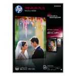 HP Premium Plus Glossy Photo Paper-50 sht/A4/210 x 297 mm pak fotopapier Wit Glans