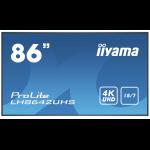 "iiyama Prolite LH8642UHS-B1 2.17 m (85.6"") IPS 4K Ultra HD Built-in processor Android 8.0"